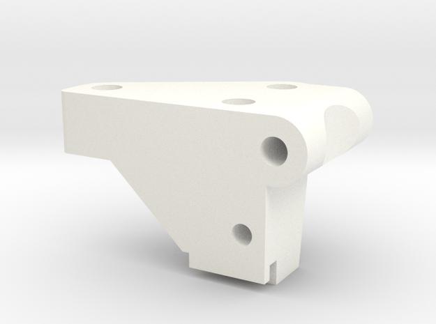1/5 Scale Front Bulkhead, LH in White Processed Versatile Plastic