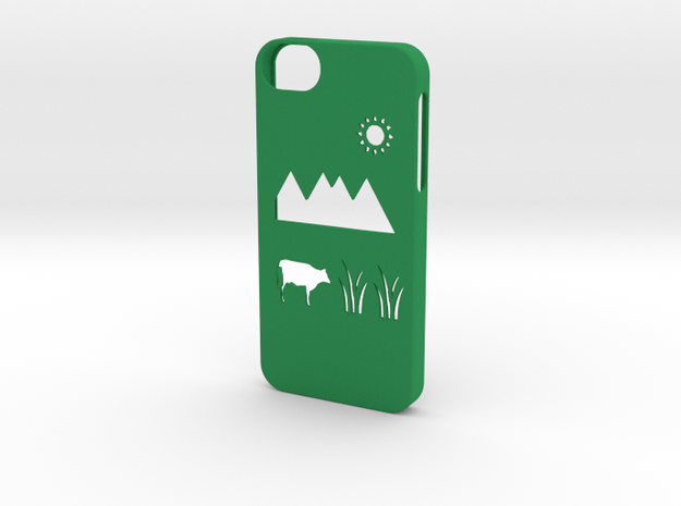 Iphone 5/5s meadow case in Green Processed Versatile Plastic