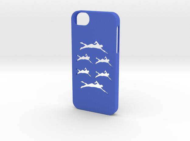 Iphone 5/5s swimming case in Blue Processed Versatile Plastic