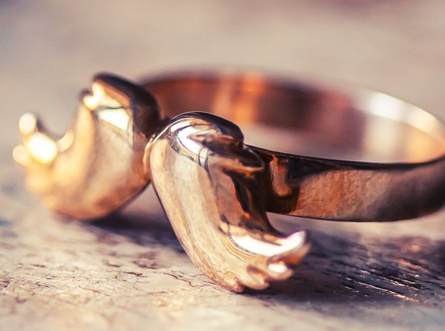 Mustache Type: 3 in Polished Bronze