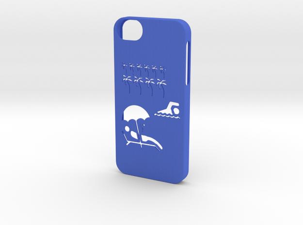 Iphone 5/5s exotic case in Blue Processed Versatile Plastic