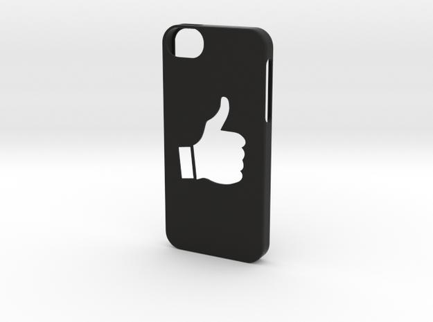 Iphone 5/5s thumbs up case  in Black Natural Versatile Plastic