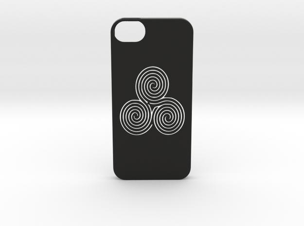 Iphone 5/5s labyrinth case in Black Natural Versatile Plastic