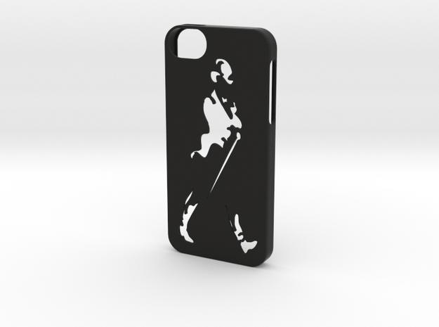 Iphone 5/5s  Johnnie  Walker case in Black Natural Versatile Plastic