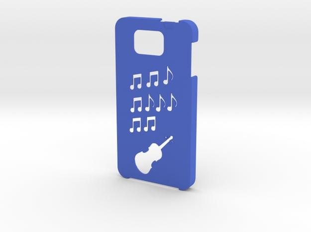 Samsung Galaxy Alpha Music case in Blue Processed Versatile Plastic