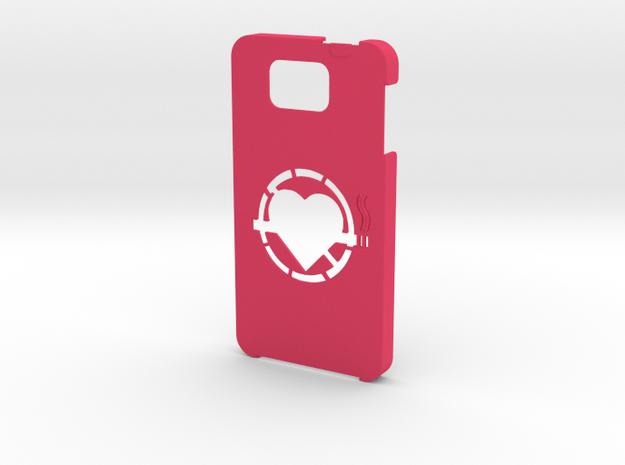 Samsung Galaxy Alpha No smoking case  in Pink Processed Versatile Plastic