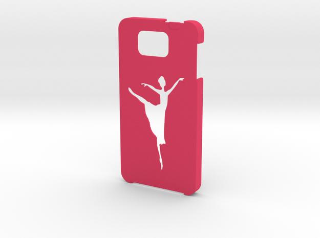 Samsung Galaxy Alpha Ballet dancer case in Pink Processed Versatile Plastic