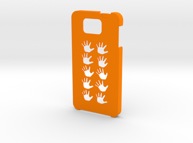 Samsung Galaxy Alpha Hands case in Orange Processed Versatile Plastic