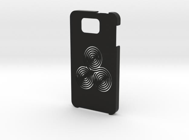 Samsung Galaxy Alpha Labyrinth case in Black Natural Versatile Plastic