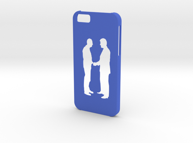 Iphone 6 Giving hands case in Blue Processed Versatile Plastic