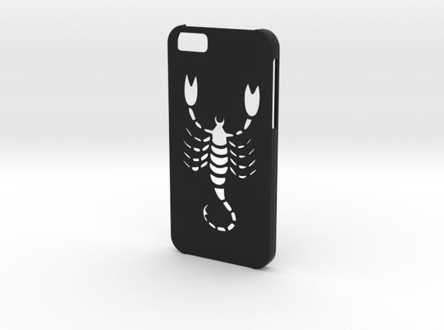 Iphone 6 Scorpio case in Black Natural Versatile Plastic
