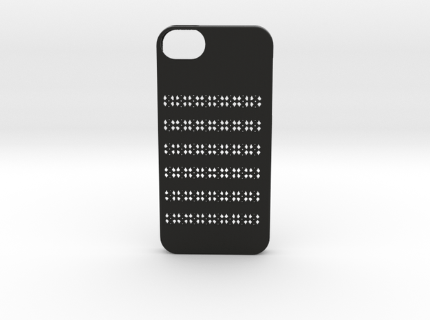 Iphone 5/5s geometry case in Black Natural Versatile Plastic