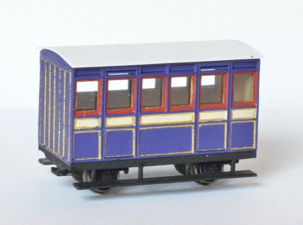 FR Ashbury 4w Carriage FIRST in Smooth Fine Detail Plastic
