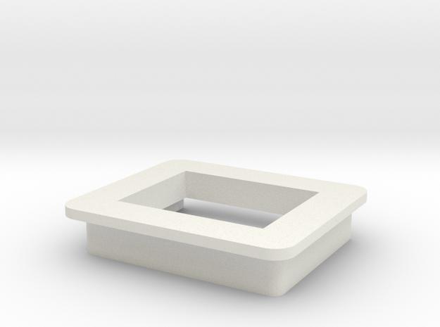Mod Meter ( modmeter ) Bezel/Cradle in White Natural Versatile Plastic
