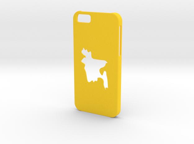 Iphone 6 Bangladesh Case in Yellow Processed Versatile Plastic