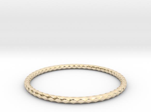 Diamond Pattern Bracelet USA Size Large in 14K Yellow Gold