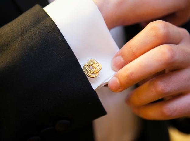 Nautical Turk's Head Knot Cufflinks
