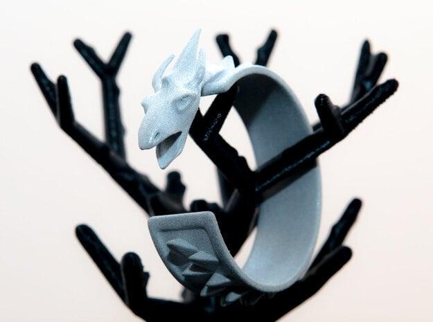 Dragon Cuff in White Natural Versatile Plastic