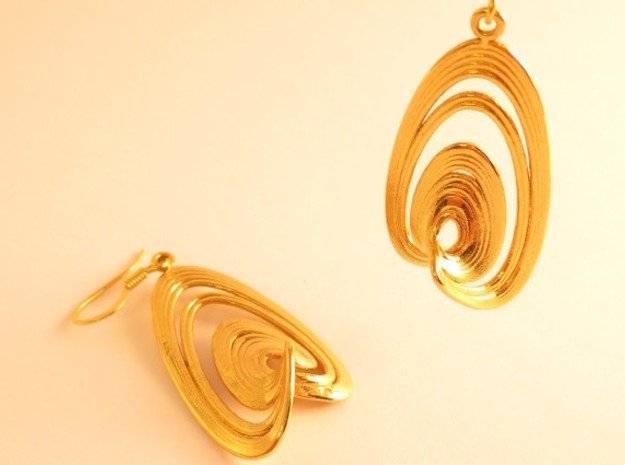 Sprott Linz R Earrings Pair in 18K Gold Plated