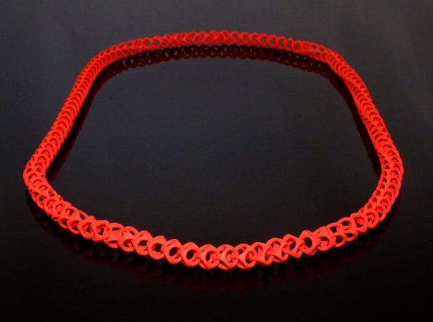 Cubichain Necklace 8 (60cm) in Red Processed Versatile Plastic
