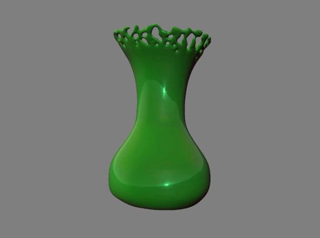 Liquid vase in White Natural Versatile Plastic