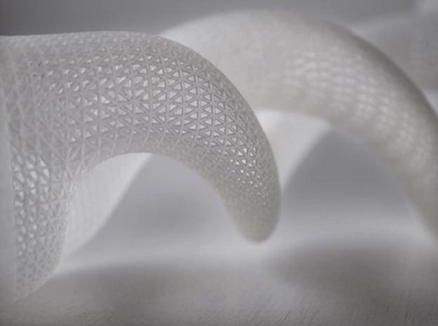 Medium Dna Vase in White Natural Versatile Plastic