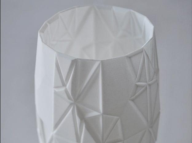 Origami Vase in White Natural Versatile Plastic