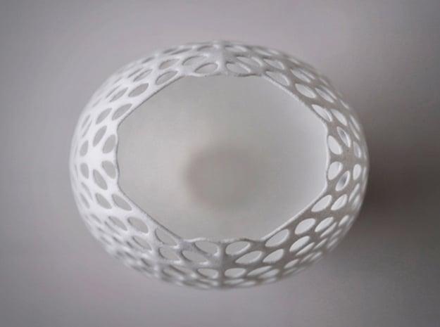 Lace Vase in White Natural Versatile Plastic