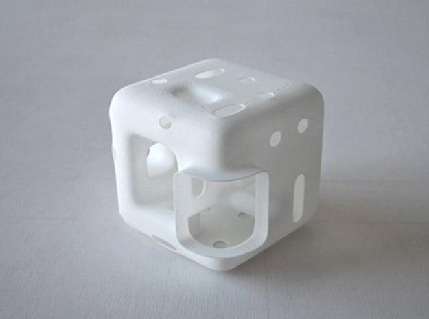 Cube Vase in White Natural Versatile Plastic