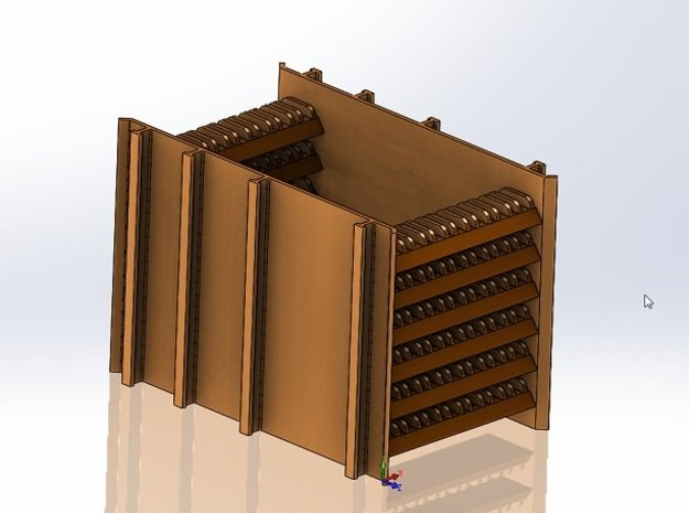 End Rack For Rail Train in Smooth Fine Detail Plastic