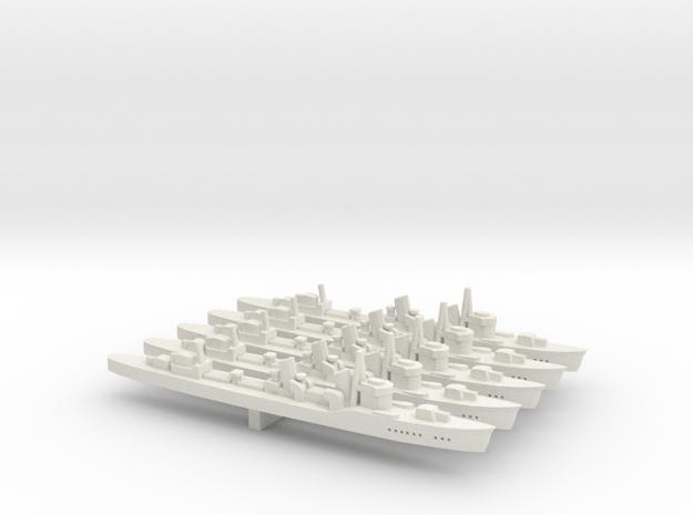Fubuki (Fubuki class) 1:1800 x5 in White Natural Versatile Plastic