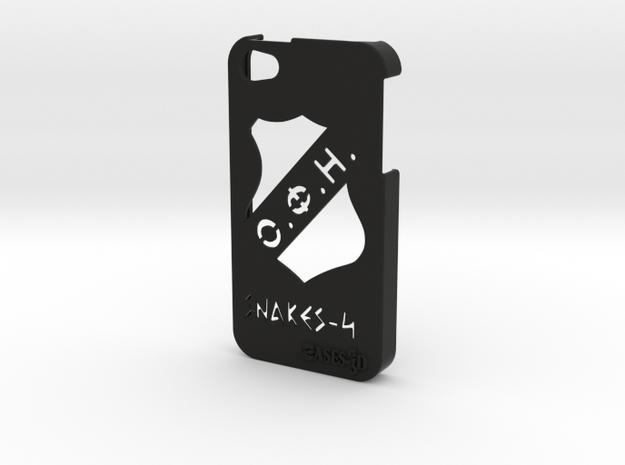 Iphone 5/5s  case OFI and logo in Black Natural Versatile Plastic