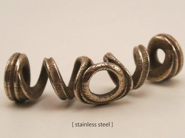 Spiral Bracelet in Polished Nickel Steel