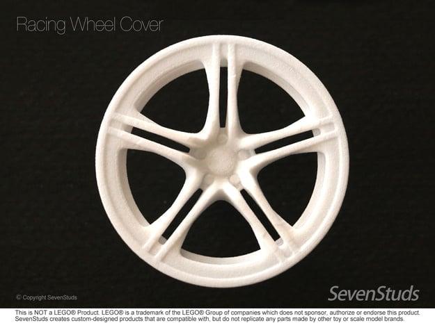 Racing Wheel Cover 01_56mm in White Natural Versatile Plastic