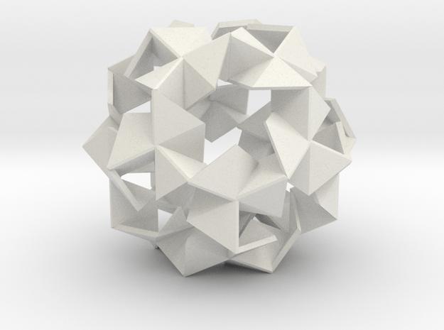 Pinwheel Lattice - 8.4 cm in White Natural Versatile Plastic