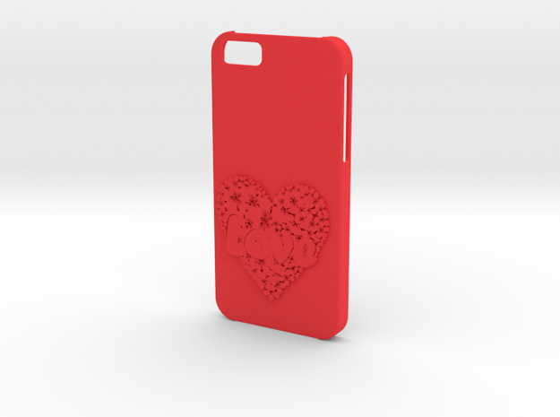 Iphone 6  case Love in Red Processed Versatile Plastic
