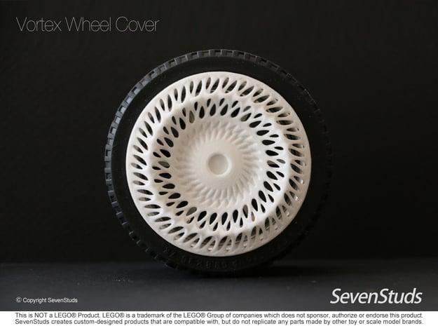 Vortex Designer Wheel Cover 56mm in White Natural Versatile Plastic