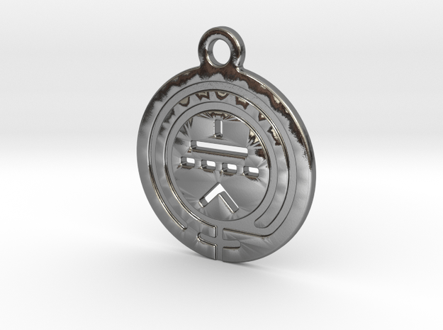 TriodeGirl Logo Key Fob 1 in Polished Silver