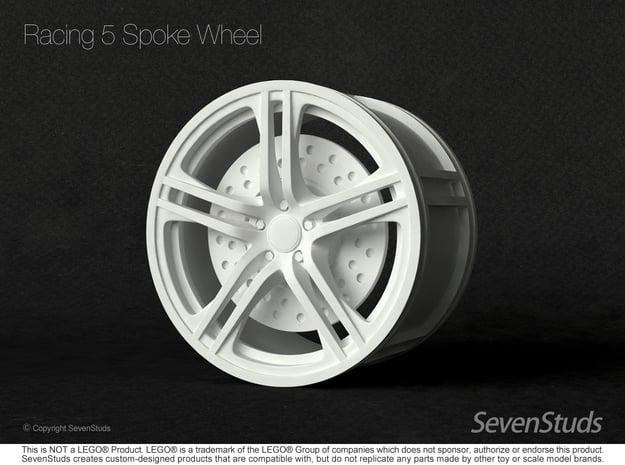 Racing Wheel 01_56mm in White Natural Versatile Plastic