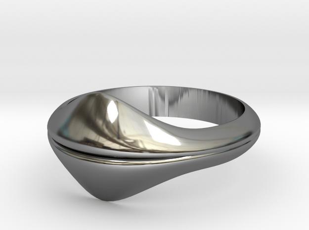 Forbidden Fruit in Fine Detail Polished Silver