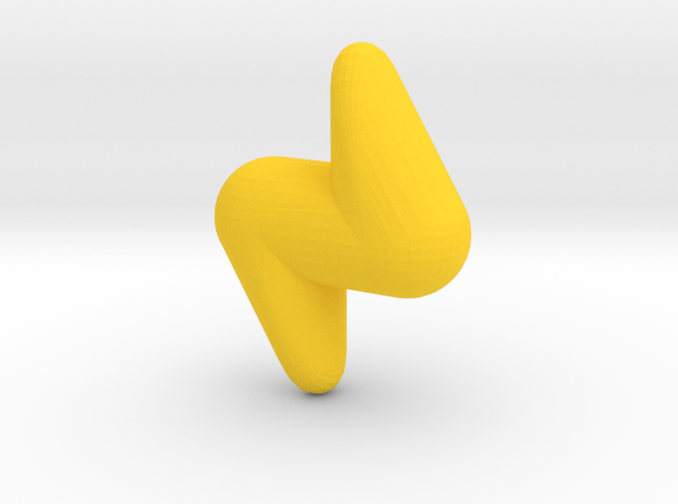Cute candy LIGHTNING in Yellow Processed Versatile Plastic