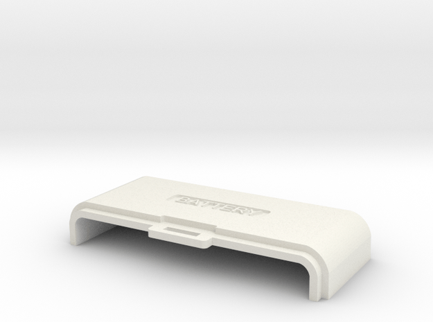 MQ-1 Battery Cover in White Natural Versatile Plastic