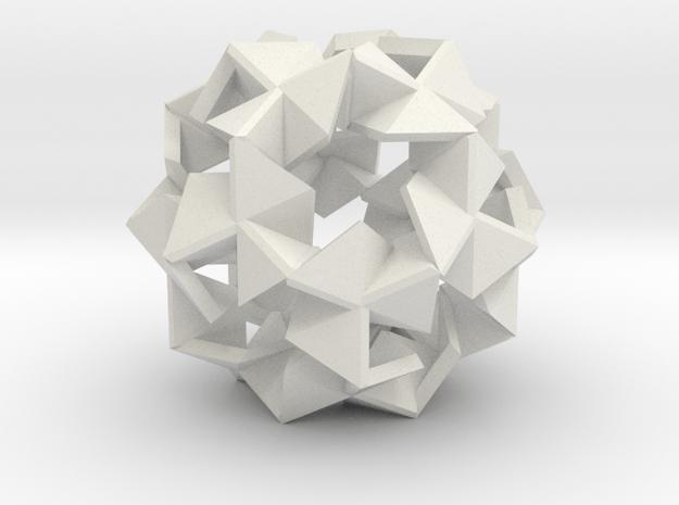 Pinwheel Lattice - 3.4 cm in White Natural Versatile Plastic