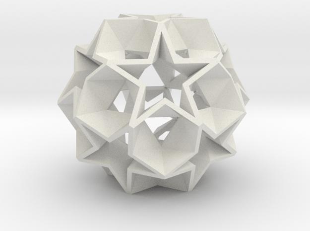 12 Star Ball - 3.4 cm in White Natural Versatile Plastic