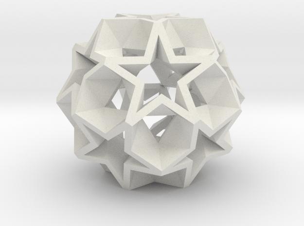 12 Star Ball - 2.2 cm in White Natural Versatile Plastic