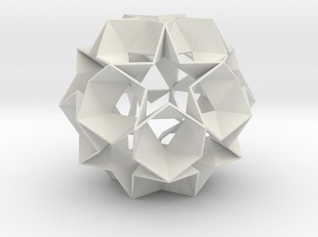 12 Star Ball - 8.4 cm in White Natural Versatile Plastic