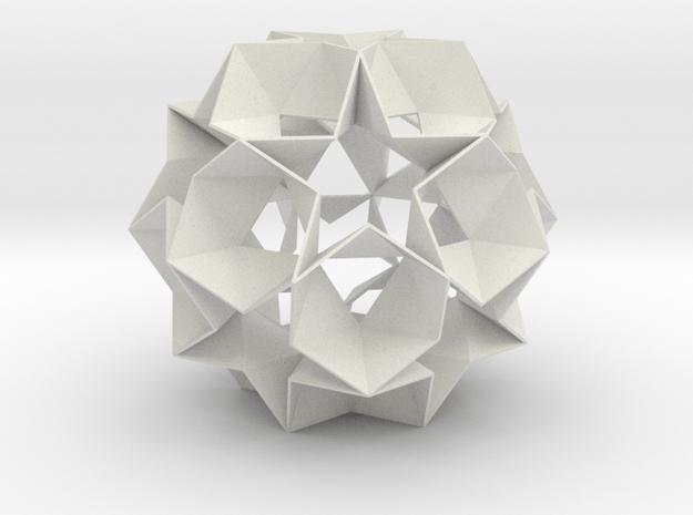 12 Star Ball - 11.2 cm in White Natural Versatile Plastic