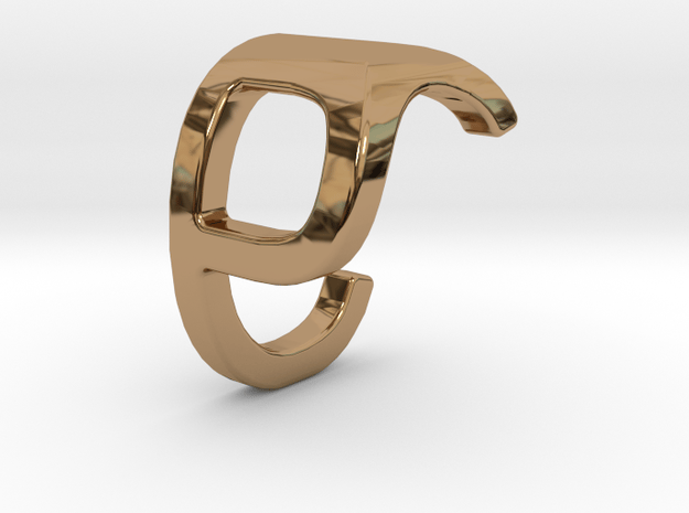 Two way letter pendant - CP PC in Polished Brass