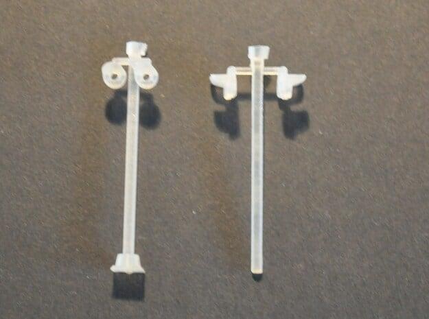Overweglamp met 2x2 lampen schaal N in Smooth Fine Detail Plastic