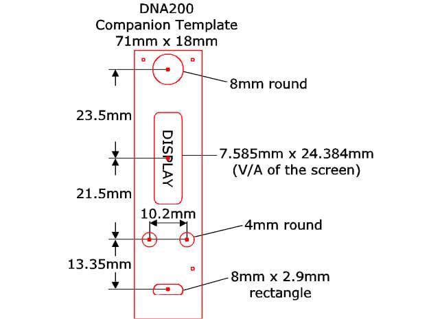 DNA75 DNA200 DNA250 - Companion Template in White Natural Versatile Plastic